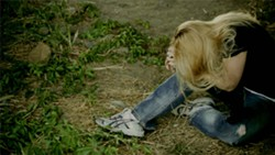"""A screen grab from """"It's Yours Forever,"""" a zombie film by Normal Hill Studio."""