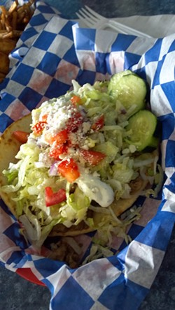 A large gyro at Scotty's Third Base Grill in Lewiston.