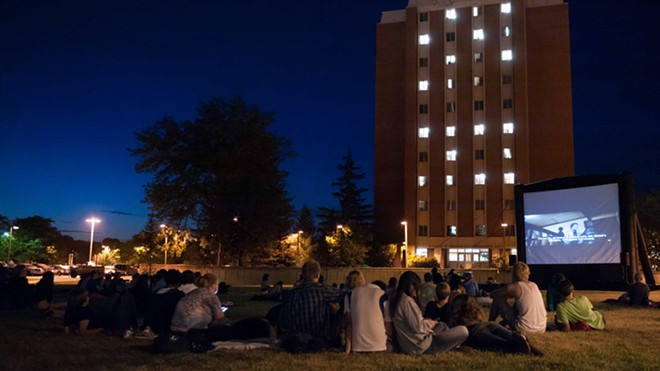 People enjoy a summer night in Moscow while catching a movie outdoors at Screen on the Green on the University of Idaho campus. - PHOTO UNIVERSITY OF IDAHO