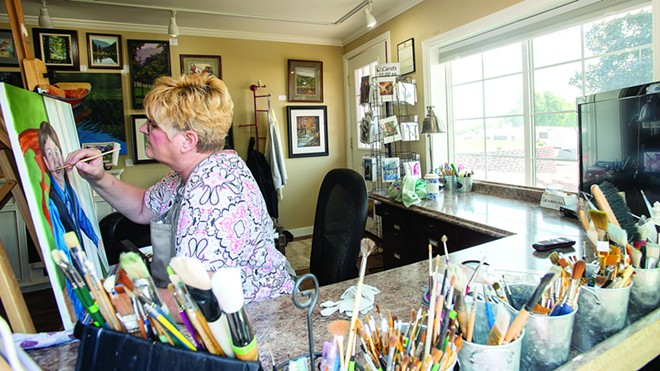 Robin Harvey of Lewiston is one of the artists opening her studio for a tour celebrating 50 years of the Valley Art Center in Clarkston. - PHOTO/INLAND 360