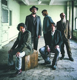 Drive-By Truckers are from L to R: Jay Gonzalez, Patterson Hood, Matt Patton, Mike Cooley, Brad Morgan. - DAVID MCCLISTER