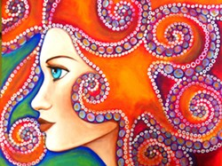 """Jaymee Laws' """"Amphitrite"""" depicts the wife of Poseidon, octopus-like, and full of strength, beauty and mystery, Laws said."""