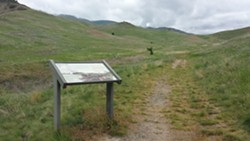 A trail at the bottom of White Bird Canyon leads through the first battlefield of the Nez Perce War which began here in June of 1877.