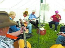 Bluegrass musicians jam at the 2011 Super Jam in Kamiah. - ISBA KAMIAH SUPER JAM