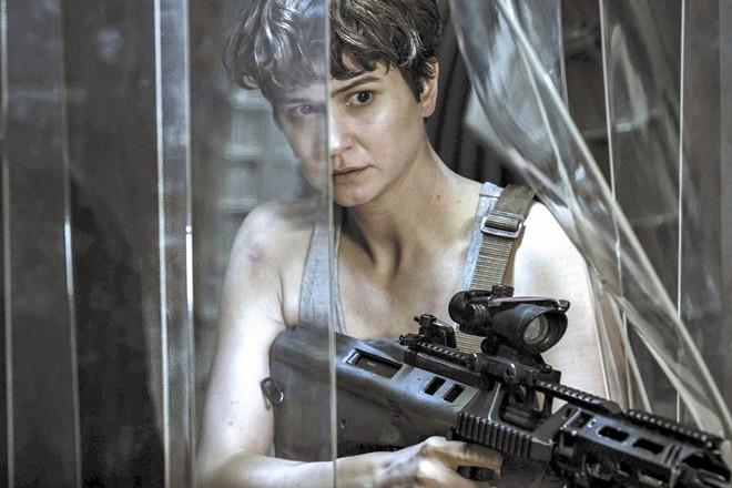 "This image released by Twentieth Century Fox shows Katherine Waterston in a scene from ""Alien: Covenant."" - MARK ROGERS/TWENTIETH CENTURY FOX VIA AP"