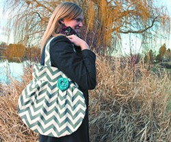 Under the label Sweet Daisy Designs, Stacey Thompson of Fairchild Air Force Base in Spokane makes funky bags and other accessories.