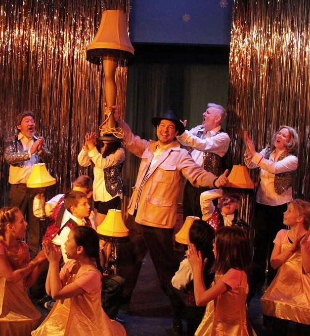 Old Man Parker is played by Brandon Michael of Spokane in this ensemble dance scene featuring the infamous leg lamp.