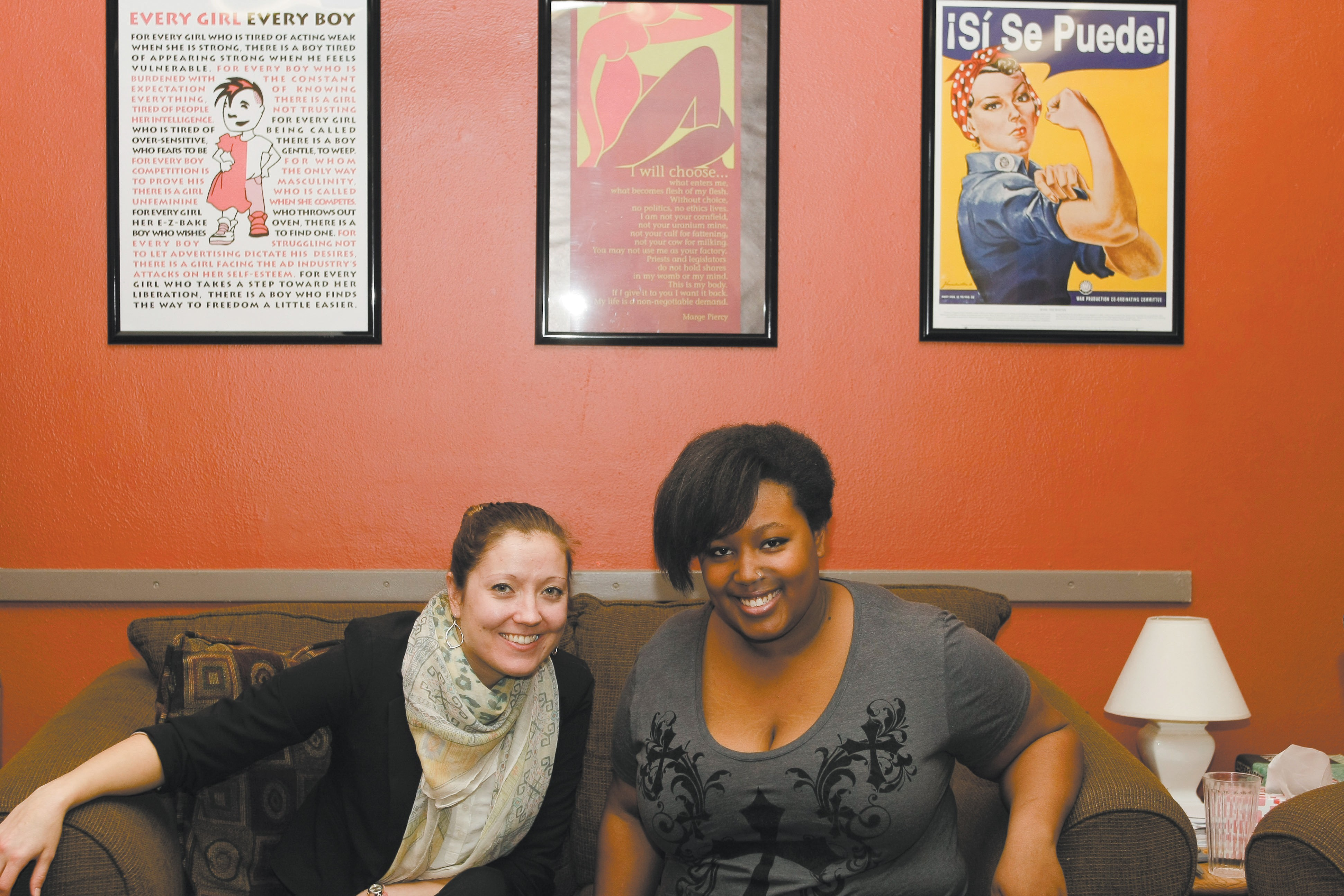 Bekah MillerMacPhee (left) with Jessy Forsmo-Shadid (right).
