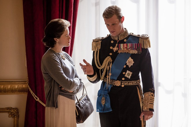 """Claire Foy and Matt Smith in """"The Crown."""" - PHOTO ROBERT VIGLASKY / NETFLIX"""
