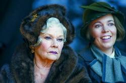 "Twentieth Century Fox via AP/Nicola DoveJudi Dench (left) and Olivia Colman star in ""Murder on the Orient Express."""