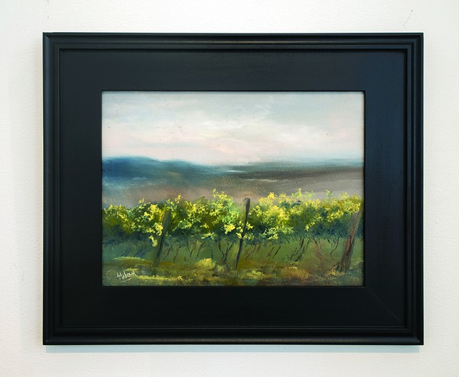 "Larry ArbourClearwater Canyon Cellars""Rainy Day morning""Oil on Panel$185 - TRIBUNE/PETE CASTER"
