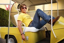 "This image released by Sony Pictures shows Brad Pitt in Quentin Tarantino's ""Once Upon a Time in Hollywood."" (Andrew Cooper/Sony-Columbia Pictures via AP) - ANDREW COOPER/SONY-COLUMBIA PICTURES VIA AP"
