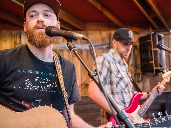 Norman Baker is leader of the band Norman Baker & the Backroads. The group also features pedal steel guitar by ?Country Dave? Harmonson, bass by Dan Schmidt and drums by Jake Evans.