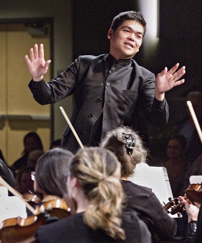 Danh Pham directs the Washington Idaho Symphony Orchestra recently. Courtesy of Washington Idaho Symphony - COURTESY WASHINGTON IDAHO SYMPHO