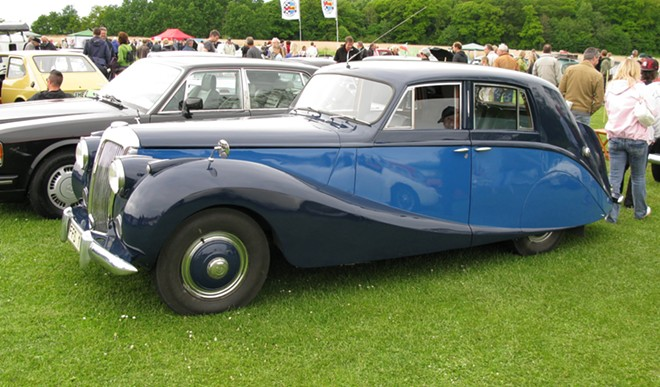 A 1951 Daimler. Daimlers were once the designated vehicles for British royalty.