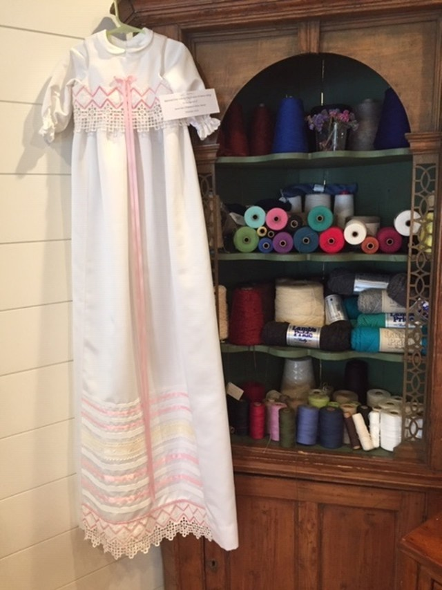 Baptismal gown made by Johansen and Collinge for Johansen's daughter's baptism in 2002.
