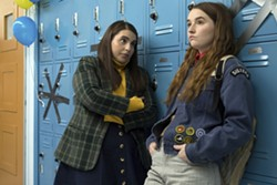 """This image released by Annapurna Pictures shows Beanie Feldstein, left, and Kaitlyn Dever in a scene from the film """"Booksmart,"""" directed by Olivia Wilde. (Francois Duhamel/Annapurna Pictures via AP) - FRANCOIS DUHAMEL/ANNAPURNA PICTURES VIA AP"""