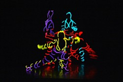 """The Rainbow Dance Theatre will stage """"iLumiDance"""" using the latest electro-luminescent wire technology."""