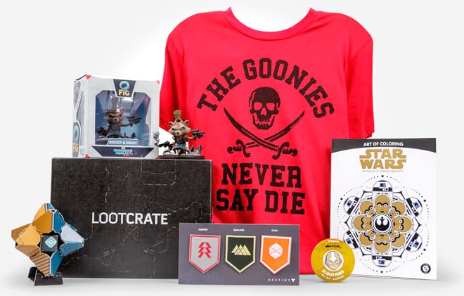 Loot Crate is a subscription service that comes with a monthly array of pop culture wearables, collectables and other surprise items.