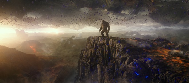"""This image released by Warner Bros. Entertainment shows a scene from """"Godzilla vs. Kong."""" - WARNER BROS. ENTERTAINMENT  VIA AP"""