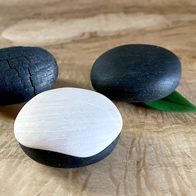 Kyong's stones are actually made from wood.