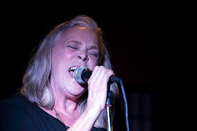 Sherry Lukenbill performs at Brock's on Friday, April 23, in downtown Lewiston. - PETE CASTER/360