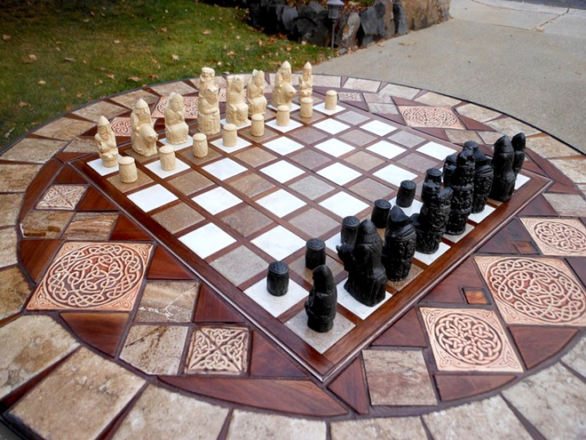 Chess table Dick Domey