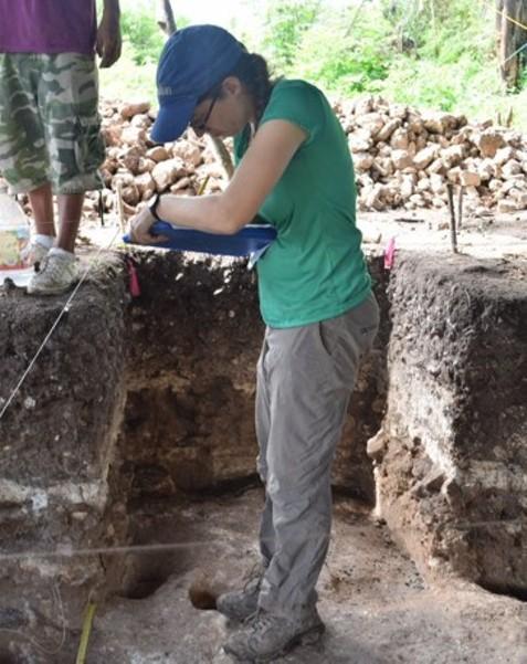 Rachel Horowitz at an excavation site in Arenal, Belize. - RACHEL HOROWITZ