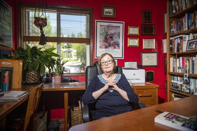 Blew shown in her home office. - ZACH WILKINSON/INLAND 360