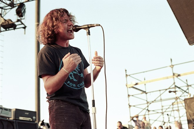 Pearl Jam performing at The Gorge in 1993. - DARREN BALCH