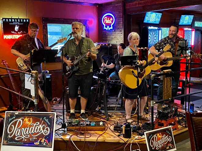 The Moscow-Pullman band Paradox is one of several local groups performing Saturday at Rendezvous in the Park in Moscow. The five-piece band performs covers of rock, pop, folk and country music from the 1950s to the present. - COURTESY OF PARADOX'S FACEBOOK PAGE