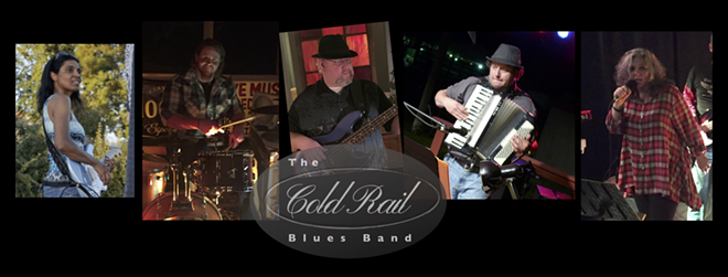 Members of the ColdRail Blues Band are (from left to right) Michelle Karel-Ward, Gina Taruscio, Mike Gourley, David Summers and Kasey Dennler.