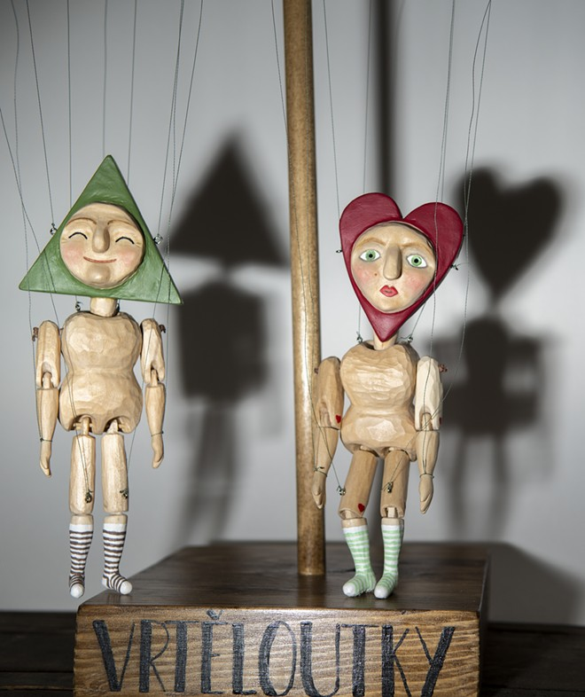 Marionettes carved by Moscow artist Jana Vrtelova Holbert, who is carrying on a family tradition of puppet making. - ZACH WILKINSON / INLAND 360