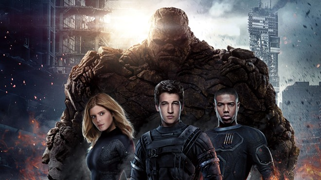 """This photo from the 2015 """"Fantastic Four"""" shows the cast from left Ben Grimm (Jamie Bell), Sue Storm (Kate Mara), Reed Richards (Miles Teller) and Johnny Storm (Michael B. Jordan). - PHOTO BY 20TH CENTURY FOX/MARVEL/KOBAL/SHUTTERSTOCK"""