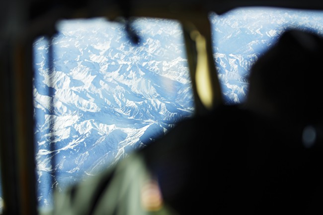 376th Expeditionary Operations Group Pilot and Captain Alex Denton flies a KC-135. - YOUNG KWAK
