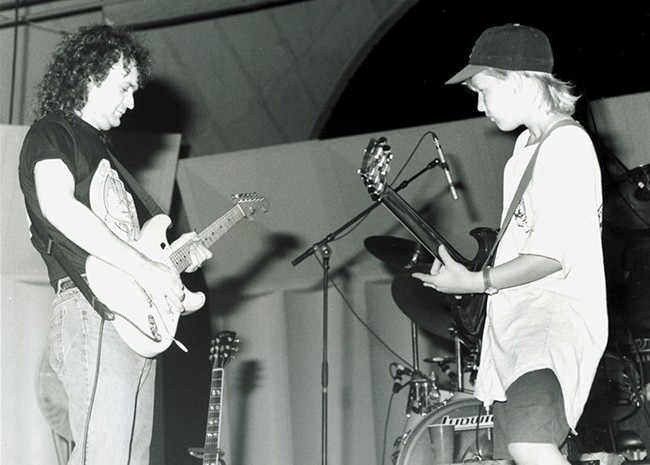 A 14-year-old Derek Trucks jams with Tinsley Ellis back in 1993. - SUSAN B. STANTON