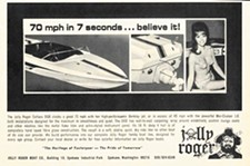 A 1969 ad for Jolly Roger boats