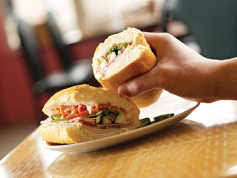 A banh mi sandwich from Vien Dong - YOUNG KWAK