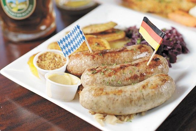A bratwurst combo from Das Stein Haus in Spokane. - YOUNG KWAK