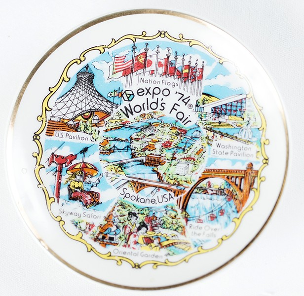 A commemorative plate. - YOUNG KWAK