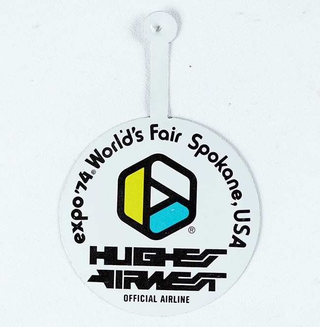 A Hughes Airwest airline pin. - YOUNG KWAK