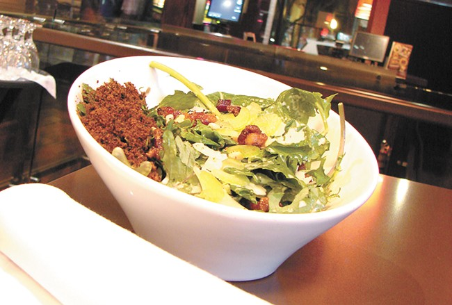 A kale salad from the now Adam Hegsted-owned Cellar. - CARRIE SCOZZZARO