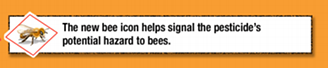 A label the EPA now requires on neonicotinoids.