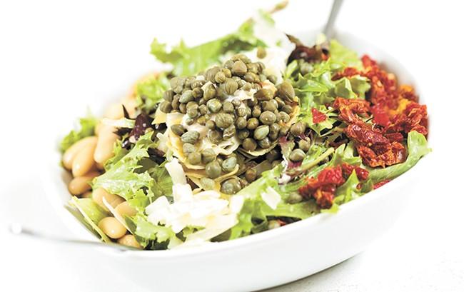 A Mediterranean salad from Fire Artisan Pizza