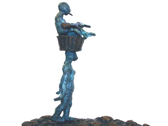 "A mockup of Idiko Kalapacs\' sculpture, entitled \""Bearing.\"""