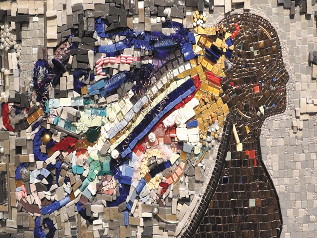 A mosaic by Patty Franklin is among the detail-heavy pieces on display at the Very Carefully show. - ALEJANDRO PALLARES