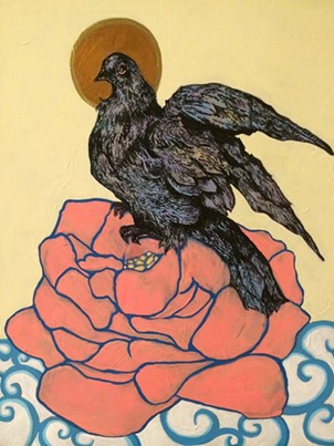 A piece by Christina Lucky, an Art on the Edge volunteer, whose work will be featured in Emerge,
