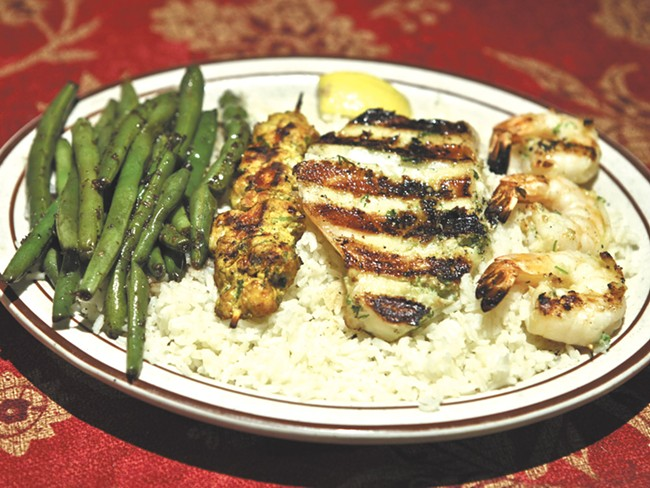 A Sampling of the White House\'s offerings, all on one plate. - JEFF FERGUSON