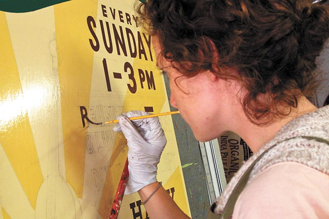 A scene from the documentary Sign Painters, which looks into an art form and trade that's been nearly lost to time.