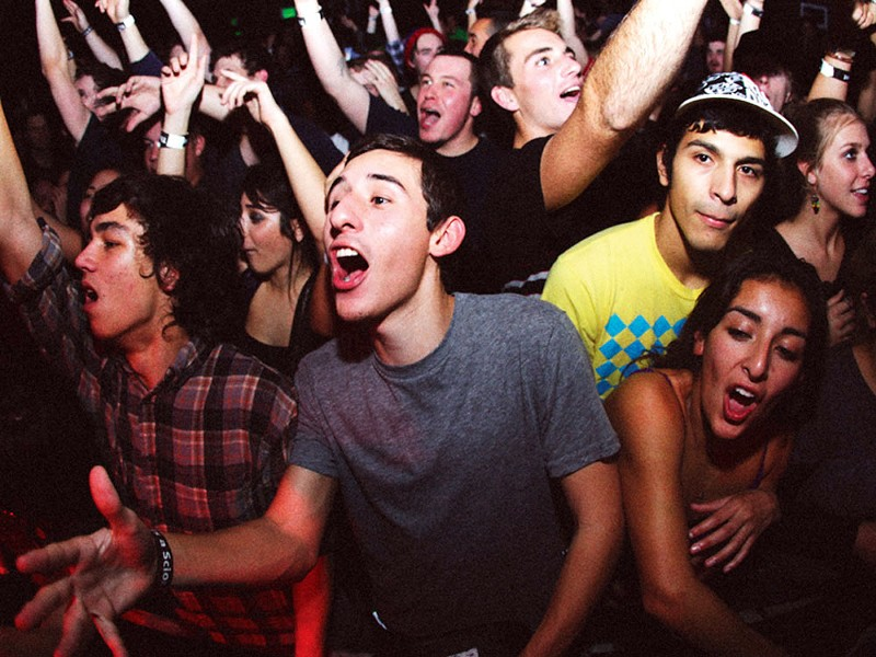 A shot from the Scion House Party - a dubstep showcase - last January at the Roxy in Hollywood - CAESAR SEBASTIAN